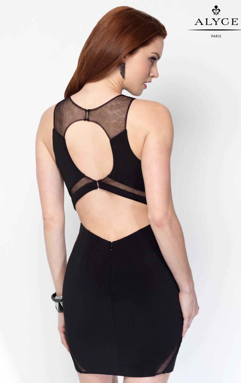crna_kratka_obleka_mrezica_izrezi_odprt_hrbet_seksi_elegantna