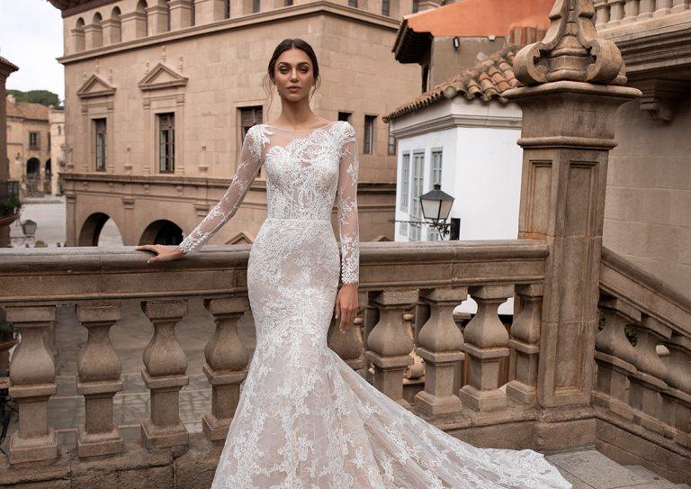 dolga poročna obleka